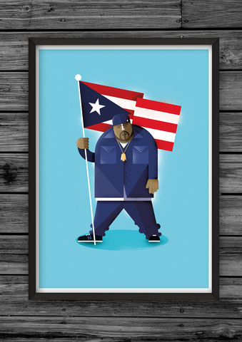 Big,Pun,print,illustration, giclee, dale, edwin, murray, print, buy, limited, edition, art, illustrator, graphic artist, big pun, digital, wall art, fat joe