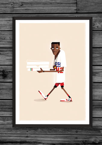 Mookie,print,(Limited,edition),illustration, giclee, dale, edwin, murray, print, buy, limited, edition, art, illustrator, graphic artist, spike lee, digital, wall art, do the right thing