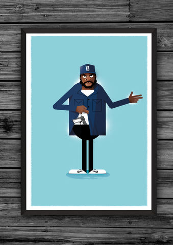 Doughboy,print,illustration, giclee, dale, edwin, murray, print, buy, limited, edition, art, illustrator, graphic artist, big pun, digital, wall art, fat joe
