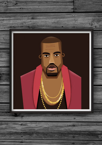 HipHopHead,21,illustration, giclee, dale, edwin, murray, print, buy, limited, edition, art, illustrator, graphic artist, digital, wall art, kanye, west, yeezus