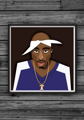 HipHopHead,23,illustration, giclee, dale, edwin, murray, print, buy, limited, edition, art, illustrator, graphic artist, digital, wall art, 2pac, tupac, shakur