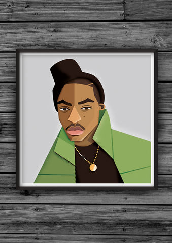 HipHopHead,24,illustration, giclee, dale, edwin, murray, print, buy, limited, edition, art, illustrator, graphic artist, digital, wall art, nas, nasir, jones, illmatic, ny