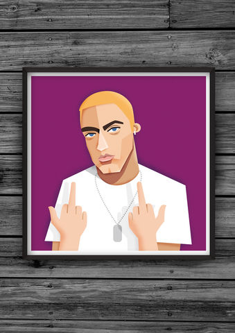 HipHopHead,25,illustration, giclee, dale, edwin, murray, print, buy, limited, edition, art, illustrator, graphic artist, digital, wall art, eminem, slim, shady