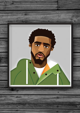HipHopHead,26,illustration, giclee, dale, edwin, murray, print, buy, limited, edition, art, illustrator, graphic artist, digital, wall art, jcole