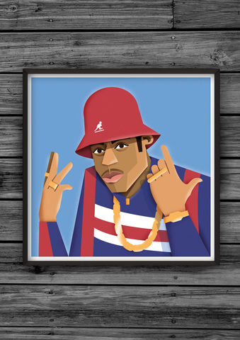 HipHopHead,29,illustration, giclee, dale, edwin, murray, print, buy, limited, edition, art, illustrator, graphic artist, digital, wall art, ll cool j