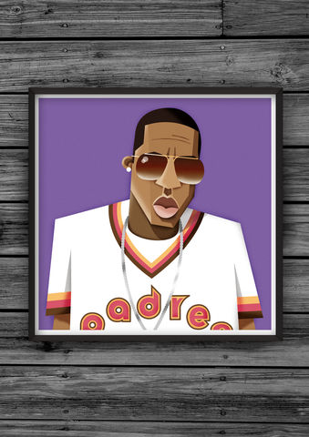 HipHopHead,30,illustration, giclee, dale, edwin, murray, print, buy, limited, edition, art, illustrator, graphic artist, digital, wall art, jayz, hov, jay