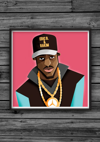 HipHopHead,31,illustration, giclee, dale, edwin, murray, print, buy, limited, edition, art, illustrator, graphic artist, digital, wall art, rakim