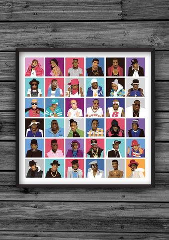 HipHopHead,'Legends',illustration, giclee, dale, edwin, murray, print, buy, limited, edition, art, illustrator, graphic artist, digital, wall art, future