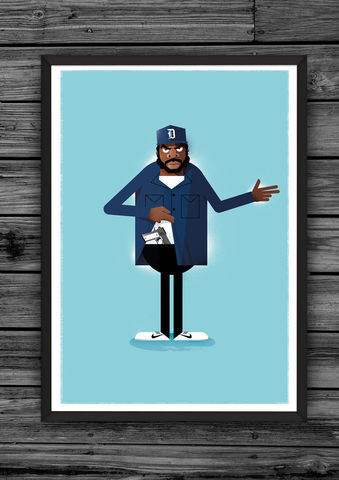 Doughboy,A2,print,(Limited,edition),illustration, giclee, dale, edwin, murray, print, buy, limited, edition, art, illustrator, graphic artist, spike lee, digital, wall art, do the right thing