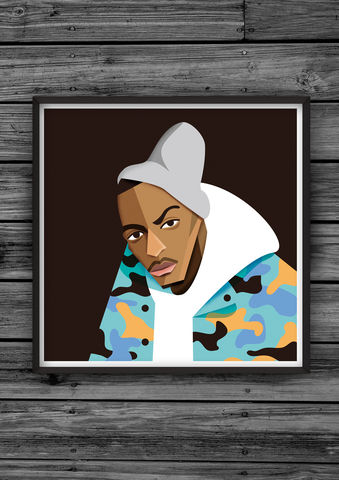 HipHopHead,33,illustration, giclee, dale, edwin, murray, print, buy, limited, edition, art, illustrator, graphic artist, digital, wall art, ti, tip
