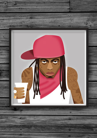 HipHopHead,34,illustration, giclee, dale, edwin, murray, print, buy, limited, edition, art, illustrator, graphic artist, digital, wall art, lil wayne, weezy