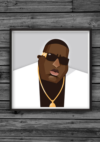 HipHopHead,36,illustration, giclee, dale, edwin, murray, print, buy, limited, edition, art, illustrator, graphic artist, digital, wall art, biggie, notorious, big