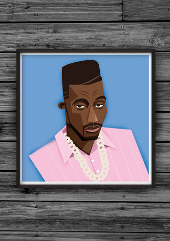 HipHopHead,37,illustration, giclee, dale, edwin, murray, print, buy, limited, edition, art, illustrator, graphic artist, digital, wall art, big, daddy, kane