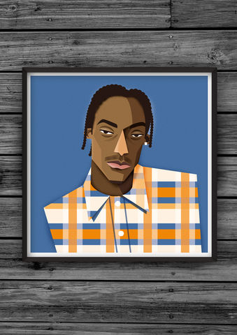 HipHopHead,38,illustration, giclee, dale, edwin, murray, print, buy, limited, edition, art, illustrator, graphic artist, digital, wall art, snoop, dogg