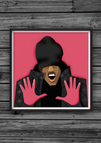 HipHopHead,45,illustration, giclee, dale, edwin, murray, print, buy, limited, edition, art, illustrator, graphic artist, digital, wall art, nicki minaj