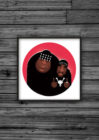 East/West,print,illustration, giclee, dale, edwin, murray, print, buy, limited, edition, art, illustrator, graphic artist, biggie, tupac, digital, wall art, hiphopart, hiphopprints