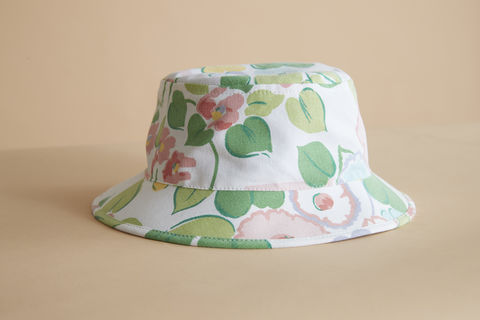 Flower,patch,bucket,kids hat, childrens hat, kids sun hat, childrens sun hat
