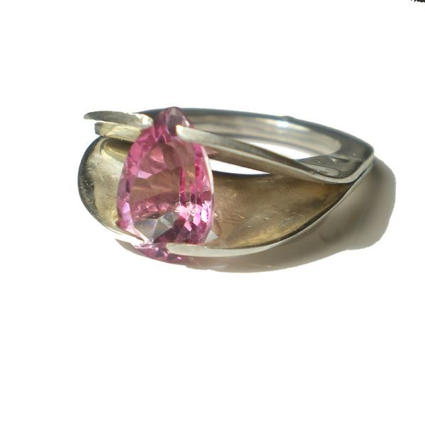 Hot Pink Topaz Statement Ring - product images  of