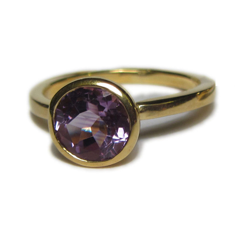 18CT Gold Cocktail Ring with an Amethyst - product images  of