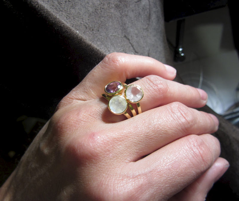Bling Moonstone Ring in 18ct solid yellow Gold - product images  of