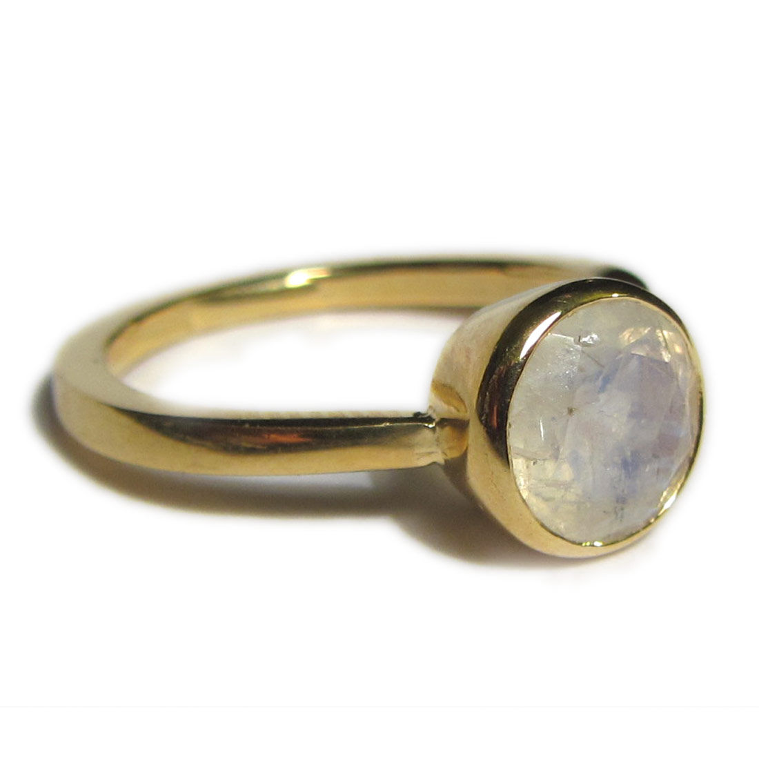 bling moonstone ring in 18ct solid yellow gold catherine