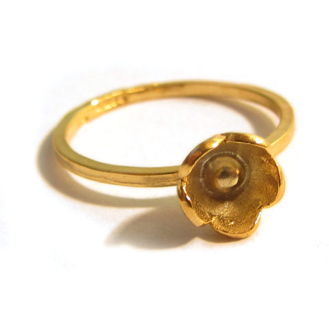 Gold,Blum,sterling,silver,flower,stacking,Ring,Jewelry,Sterling,blooms,flowers,organic,metalwork,europeanstreetteam,little,romantic_girl,uk_team,stackable_rings,love_mum_mom,mothers_day,stacking_rings,french_handmade,sterling silver,ag,925,fine silver,vermeil,gold plated,gold verm