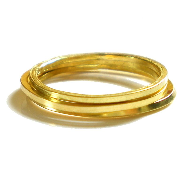 Mini MINE dainty skinny 18K yellow gold stacking ring - product images  of