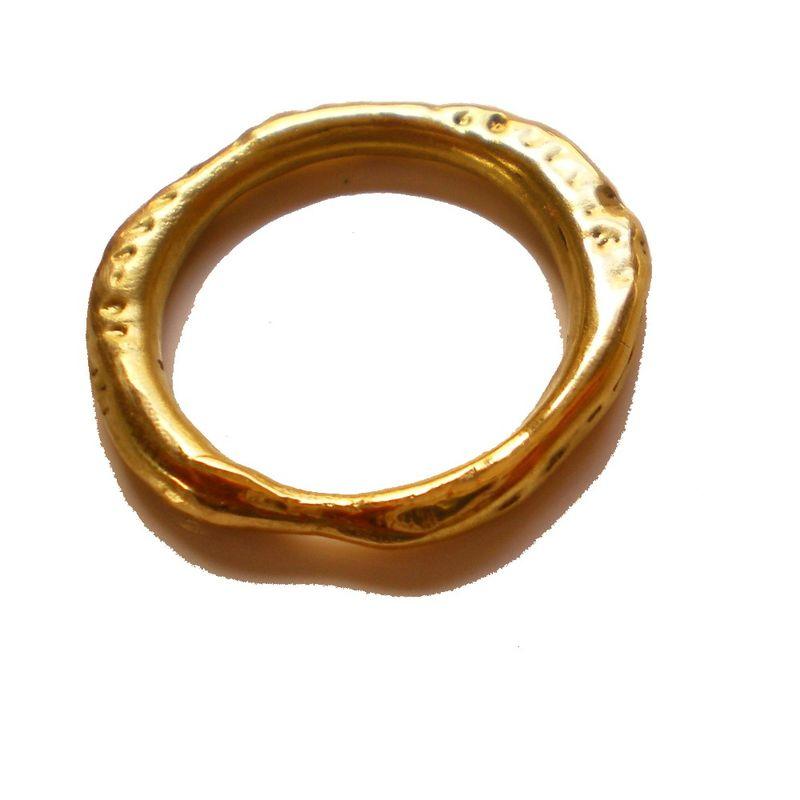 VESUVIO organic 18K yellow gold ring Catherine Marche Bespoke