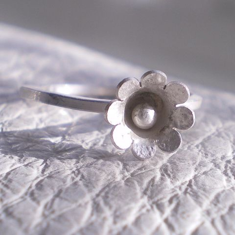 Belle,Blum,sterling,silver,Flower,Ring,Jewelry,silver Ring,stack rings,sterling silver,blooms,floral,flowers,blossoms,stacking,metalwork,ring,stackable,stacked,promise,teamfrench,uk,sterling_silver,ag,925