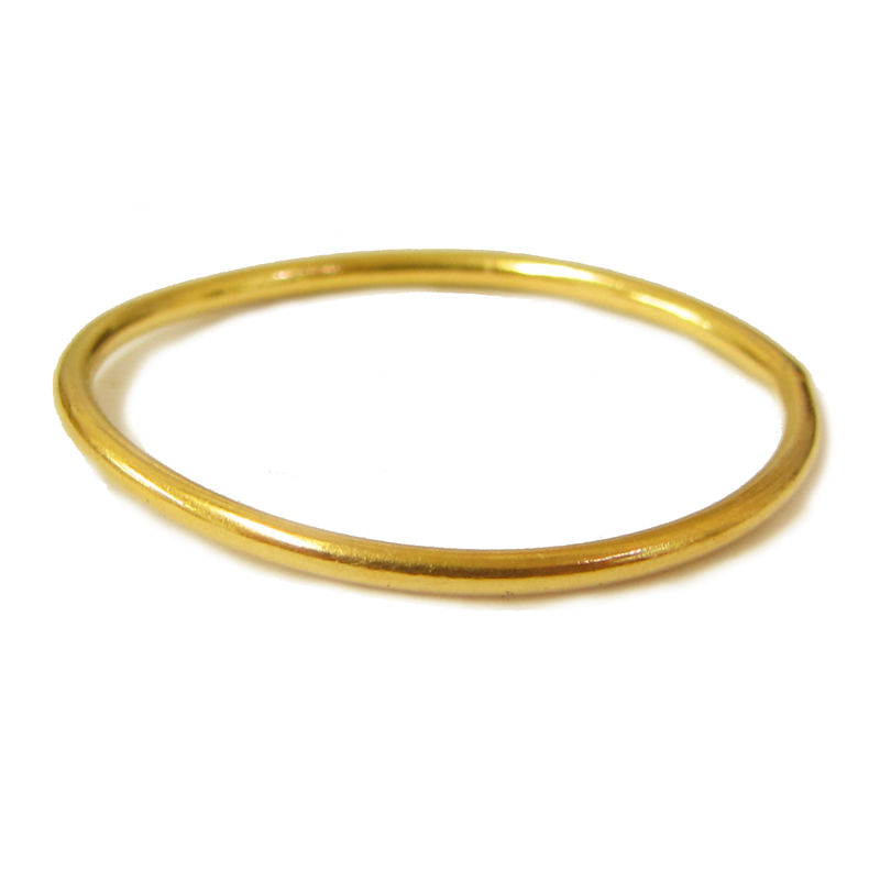 Mini dainty skinny 22K yellow gold stacking ring 1mm - product images  of