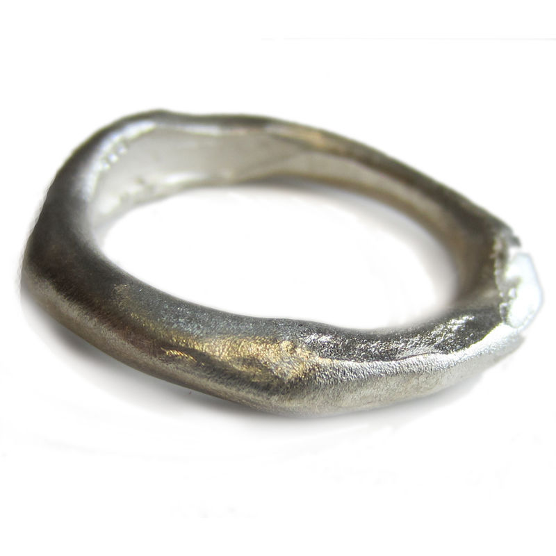 Sterling silver ring - Organic Molten - product images  of