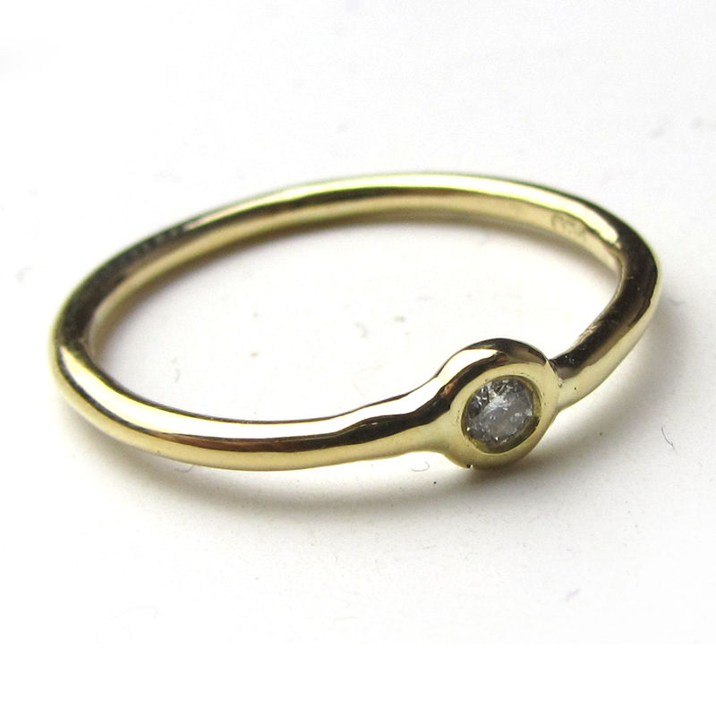 stackable 18 ct gold rings with made to order