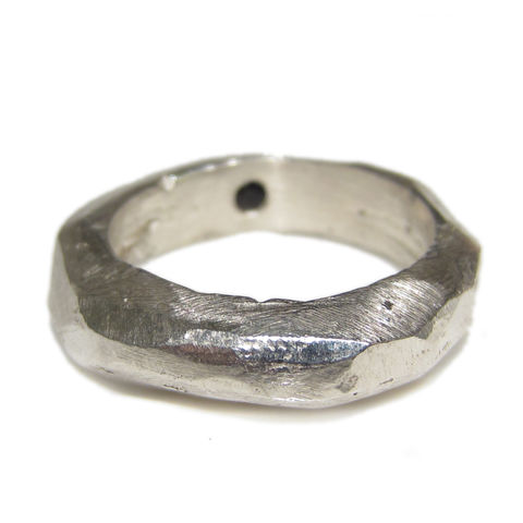 My,Secret,a,sculptural,Silver,Ring,for,Men,chunky ring for men, silver ring for men, rustic wedding ring