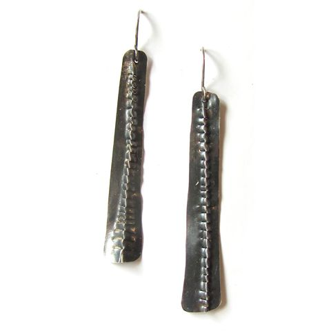 Long,Moonlight,Serenade,Silver,Earrings,,oxidised,sterling,silver,long earrings, oxidised silver earrings, statement earrings, cocktail earrings,catherine marche