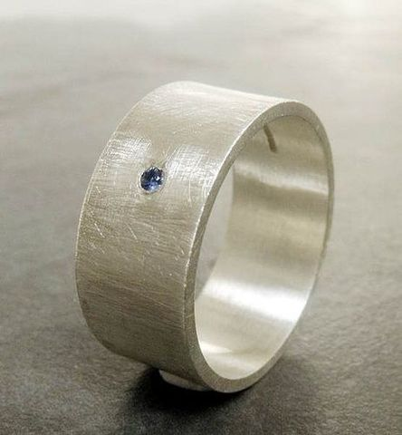 Large,Sterling,Silver,Ring,with,Blue,Sapphire,Weddings,Jewelry,large Ring,genuine gemstones,brushed,wide band,engagement,bridal,jewellery for men,commitment ring,sapphire,europeanstreetteam,teamfrench,uk,wedding,anniversary,birthday,sterling silver,balck sapphire,gemstones,ag,925,hu