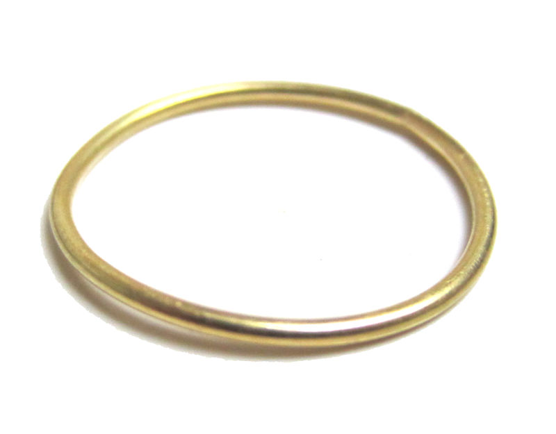 Mini dainty skinny 18K yellow gold stacking ring 1mm - product images  of
