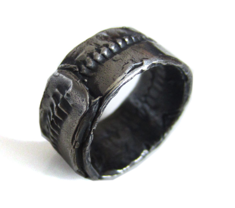 Oxidised Sterling Silver Ring for man - product images  of
