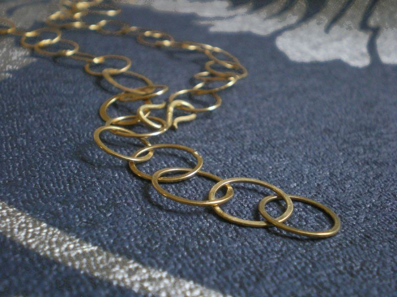 long 18 carat yellow gold chain Handcrafted - COCO - product images  of
