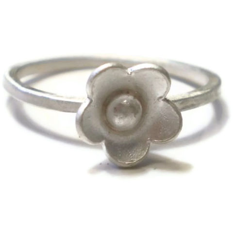 Blum,sterling,silver,flower,stacking,Ring,bespoke Jewelry,Sterling silver,floral jewellery,blooms,flowers,organic,uk,jewellery,stackable,kalicat,band,ag,925
