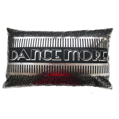 DANCE,MORE,silver,on,black