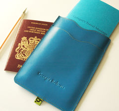 Passport,Sleeve,with,notebook,(personalised),Passport holder, leather passport sleeve, leather, bookery, notebook