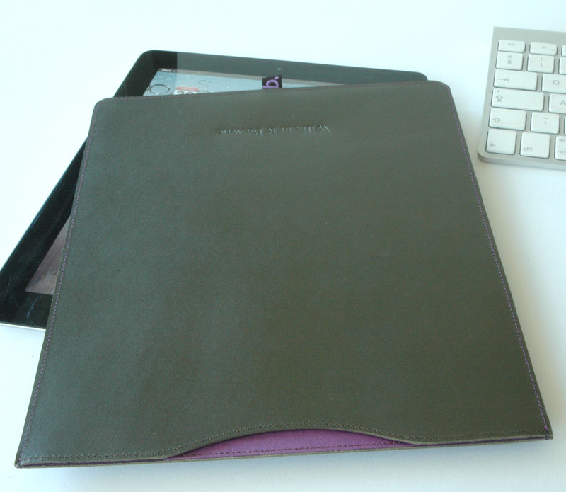 Leather iPad Sleeve (personalised) - product images  of