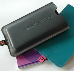 Leather,Sleeve,for,Smartphone,(personalise!),leather smartphone sleeve, cover, case, leather, bookery, Heather Weston