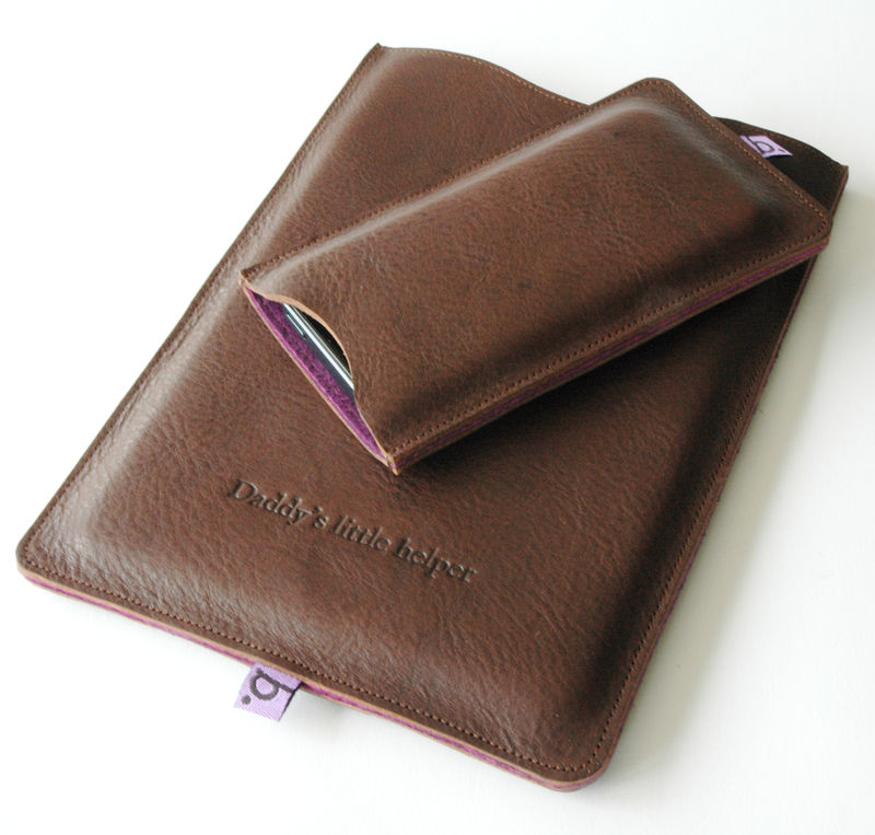 Classic Leather Sleeve for iPad Mini (personalised) - product images  of