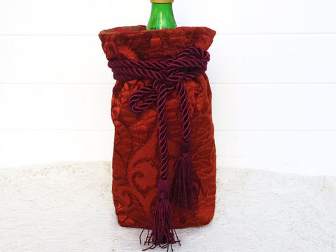 Wine,Bag,Red,Chenille,wine_bag