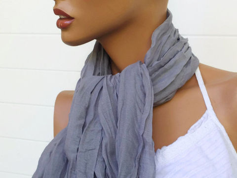 Crinkle,Scarf,Grey,Gray,38,x,70,shawl