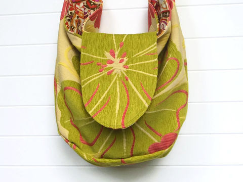 Lime,Green,Floral,Chenille,Bags_And_Purses