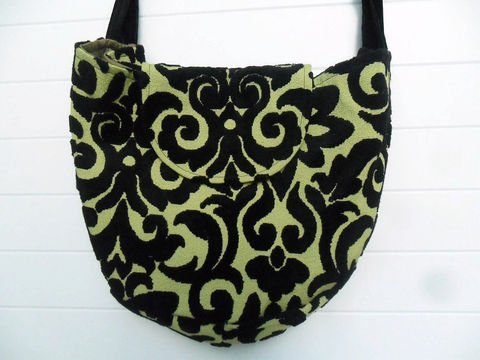 Chartreuse,Black,Cut,Velvet,edwardian_bag