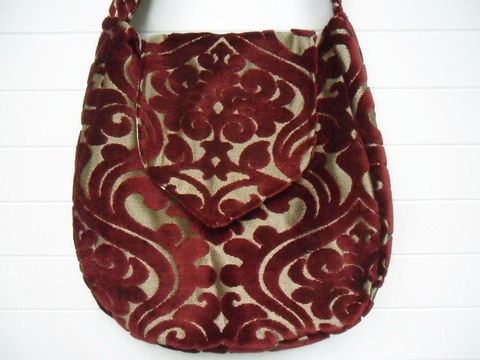 Deep,Red,Cut,Velvet,goth_bag