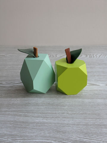 'Low-res',Apple,&,Pear,Ornaments,wooden pear, ornament, pear, handmade decoration, apples and pears, wooden fruit, green apple